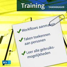Bespaar enorm door processen te automatiseren. Tijdens de training Taakmanager leert u hoe. Workflows aanmaken   Eenvoudig beheren   Schrijf u nu in via https://bcsacties.nl/product/taakmanager/