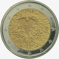 KERAILY.info: Ihmisoikeuksien julistamisen 60 juhlavuosi 2008 Su... Piece Euro, Euro Coins, Commemorative Coins, World Coins, Georgia, Nostalgia, Collection, Rare Coins, Money