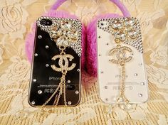 """Handmade Chanel iPhone 4 Case Clear Chanel iPhone Case"" ... If  had an iPhone I'd definitely get this!"