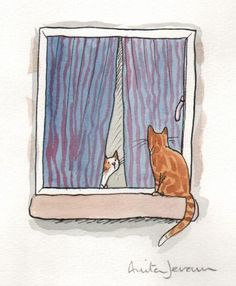 Cat's at the Window ~ Anita Jeram