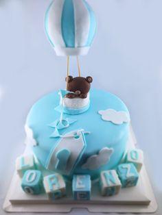 Nounours le petit ours qui voyageait en montgolfière Mousse Mascarpone, Snow Globes, Cake, Desserts, Food, Sugar Paste, Raspberry, Pie Cake, Meal