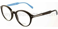 Prada PR 08PV Prada PR08PV 1BO101 Matte Black/Blue Glasses | Eyewear Brands Eyewear Brands, Prada, Sunglasses Online, Matte Black, Ann Taylor, Blue, Shopping, Style, Swag
