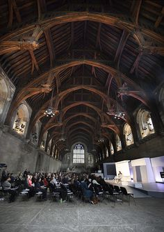 Westminster Hall's famous vaulted ceiling, built in 1099 by UK Parliament, via Flickr