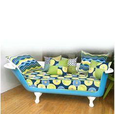 Bathtub sofa from ReWorks Upcycle Shop.