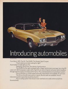 1970 Buick GS455 Skylark Sport Coupes Ad Vintage Advertisement 2-Page Classic Car Photo Print Wall Art