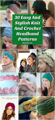 Learn how to crochet and knit amazing headbands with these easy to follow tutorials. This list has over 30 incredible headband and ear warmer patterns to choose from! #Crochet #Knit #CrochetPatterns #KnitPatterns #Headband #HeadbandPatterns #EarWarmer #EarWarmerPatterns Crochet Winter, Knit Or Crochet, Easy Crochet, Free Crochet, Crochet Hats, Crochet Hoodie, Crochet Scarves, Crochet Headband Pattern, Knitted Headband