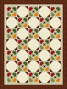 Autumn Leaves Quilt Pattern. This would be awesome with some custom dyed woodland or fall blends fabric. (Note to self, check likes on etsy, have a lady that does this liked.)