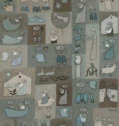 """백영수 """"가족이야기"""" 1998 [145.5x112.1]"""