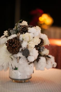 Let our in house Style and Design Team create beautiful floral for your holiday party! One stop shop! #Pepperscatering Image Credit: The Imagery Studio