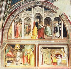 Category:Rinuccini Chapel (Basilica of Santa Croce) Tempera, Fresco, Mural Painting, Paintings, Art Database, 14th Century, Kirchen, Fashion History, Renaissance