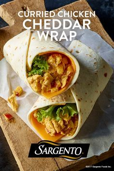 Explore a world of sandwich options with Sargento 100% real, natural cheese slices. Try this Indian-inspired sweet and savory wrap – shredded chicken, mayo, mango chutney, Sargento Sliced Sharp Cheddar Cheese and crisp apple pieces – spiced just to your liking with flavorful curry powder.
