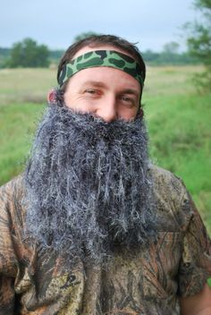 Supremely Burly Manly Crochet Beard by KristysCreation on Etsy, $30.00