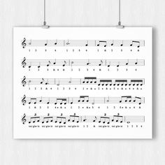 Timing Music Reference Poster by HomeInAMetronome on Etsy Music Theory, Music Education, Music Notes, Sheet Music, Printables, Poster, Etsy, Count, Watch