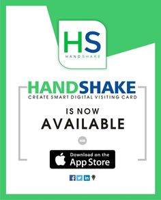 Stay connected with handshake smart digital visiting cards download handshake is now available on app storeeate and share your smart digital visiting card hs cards colourmoves