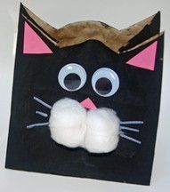 Cat paper bag craft