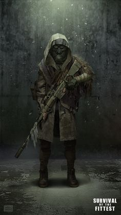"Sniper unit for ""Survival of the fittest"" Post Apocalypse, Apocalypse Survival, Survival Mode, Homestead Survival, Wilderness Survival, Survival Prepping, Character Concept, Character Art, Concept Art"