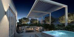 Modern Möblierte Dachterrasse mit Whirlpool-Relax Hängesessel