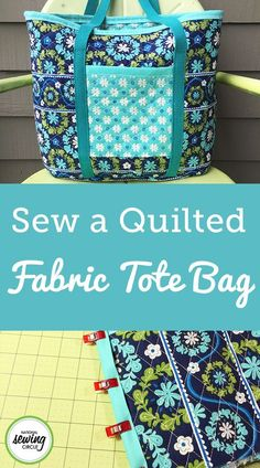 If you love sewing, then chances are you have a few fabric scraps left over. You aren't going to always have the perfect amount of fabric for a project, after all. If you've often wondered what to do with all those loose fabric scraps, we've … Fabric Tote Bags, Quilted Tote Bags, Patchwork Bags, Sewing Hacks, Sewing Tips, Sewing Tutorials, Tote Bag Tutorials, Sewing Ideas, Bags Sewing