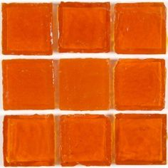 Carrot Orange-SOLD BY THE BOX Orange 1'' x 1'' Glass  Glossy Tile