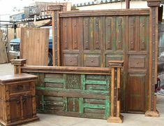 headboard/footboard made from old doors...OMG I LOVE this!!! One more thing on my DIY projects :)