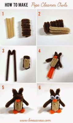DIY Crafts For Kids | How to Make Pipe Cleaner Owls #diyready www.diyready.com