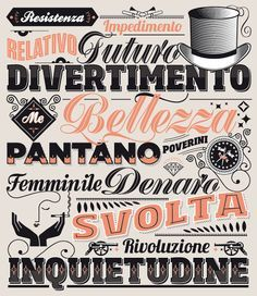 italian typography lettering - Google Search