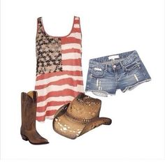 Perfect outfit for summer ❤️ #countrygirl