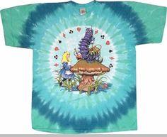 4718de61 Jefferson Airplane Tshirt - Jefferson Airplane Alice In Wonderland Tie Dye T -Shirt