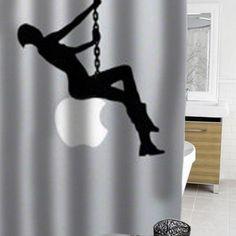 Miley Cyrus funny silhouette #showercurtain  #showercurtains  #curtain  #curtains  #bath  #bathroom  #funnycurtain  #cutecurtain