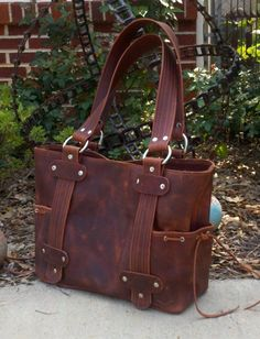 Love this....Prudence leather purse in your choice of color by chevall on Etsy, $274.00