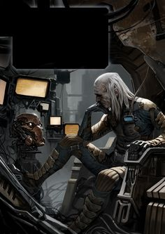 Cyberpunk - Chroniclers-thinktank by Marko-Djurdjevic