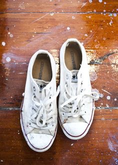 I don't wear Chucks anymore, but no matter what, white low tops will always be sweet.