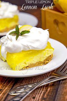 Triple lemon lush is an intensely lemon-flavored no-bake dessert that is super easy