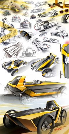 is my Soapbox Project entry for the 2013 Volkswagen Design Talent Contest. I've worked on it for 6 months, starting from the first sketch to the final race at Volkswagen do Brasil, on november didn't win the competition, but I'm very pr… Sketch Inspiration, Design Inspiration, Design Autos, Design Cars, Industrial Design Sketch, Car Design Sketch, Hand Sketch, Transportation Design, Automotive Design
