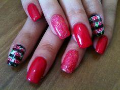 Corallo con righe e rose