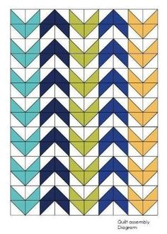 Arrow Quilt,Twin Quilt Pattern, Digital Quilt Pattern, Easy Beginner Pattern… by esperanza