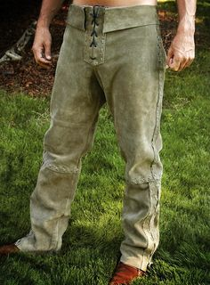 Costume -Green Suede Pants - TheVikingStore.co.uk