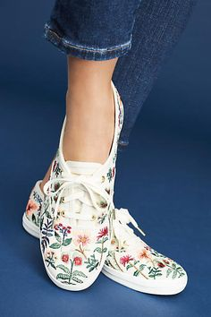 Keds x Rifle Paper Co. Champion Sneakers. #AnthroFave #Ad #Style