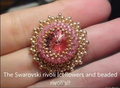 Iceflower bracelet with Swarovski rivoli part 2 Beading Tutorial by HoneyBeads