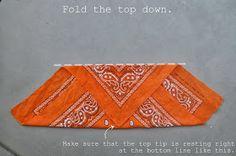 All Size Fits One: How to FOLD a Bandana Into a Headband