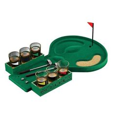 New Classic Party Game 6 Shot Glasses Golf Adult Drinking Game Entertainment Set