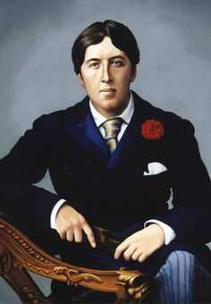 Oscar Wilde by Philip Malpass    ( 4 ft. x 3 ft. ) Oil on Panel portrait of Oscar Wilde; commissioned by a hotel in Mayfair, London.    This was created from old black and white photos of the man himself, but his buttonhole has been changed from a lily into a carnation as requested by the client. It's said that Wilde always wore a lily in honour of 'The Jersey Lily' ( Mrs. Lily Langtry).