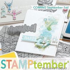 I am so excited - stamptember is almost here! I love that it is a whole month dedicated to our awesome hobby. @simonsaysstamp brings a companies and artists together for the great celebration. I know one secret and it is HUGE. I also will be sharing a video soon... as long as I can find my mic in all the boxes! 😆