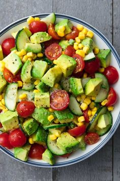 Avocado Salad Recipes, Salad Recipes For Dinner, Healthy Salad Recipes, Avocado Dessert, Healthy Lunches, Detox Recipes, Vegan Recipes, Free Recipes, Easy Recipes