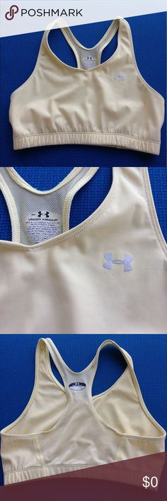 🌴NEW LISTING🌴 Under Armour Sports Bra Pale Yellow. Size S. (5/28) Under Armour Intimates & Sleepwear Bras