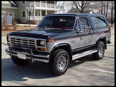 1986 Ford Bronco.....mine was red and silver......one day i will have one again!!
