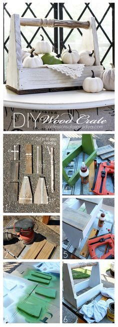 Wood crate made from discarded fencing and an old chair spindle. See how easy it is to make here! Confessions of a Serial Do-it-Yourselfer