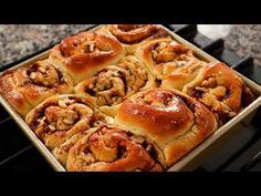 Cinnamon Rolls (Cinnamon-rollppang: 시나몬롤빵) - YouTube Cinnamon Pull Apart Bread, Cinnamon Bread, Cinnamon Rolls, Cupcakes, Maangchi Recipes, Slovenian Food, Korean Dishes, Korean Food, Muffins