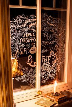Fensterdeko - Weihnachten