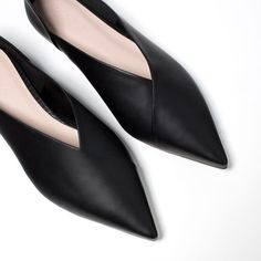 Image 4 of FLAT LEATHER SLINGBACK SHOES from Zara